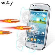 2pcs Screen Protector For Glass Samsung Galaxy S3 Mini Tempered Glass sFor Samsung Galaxy S3 Mini I8190 Protective Film Wolfsay(China)