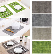 Washable PVC Mat Table Placemat Dining Coaster Bowl Pad Tableware Cup Coaster Kitchen Accessories