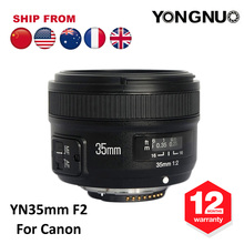 YONGNUO 35mm Lens YN35mm F2 Lens 1:2 AF / MF Wide-Angle Fixed/Prime Auto Focus Lens For Canon EF Mount EOS Camera 600D 650D