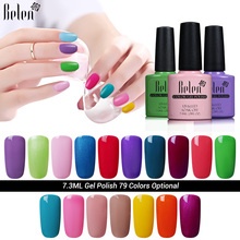Belen Nail Art Design Manicure UV LED Nails Gel Polish 79 Colors 7.3ML Soak Off Gel Nail Polishes Lacquer Free Shipping(China)