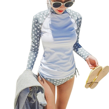 2017 Rash Guard Women Surf Rashguard Swimsuit Long Sleeve Swimwear Surfing Bathing Suits For Women Biquini Maillot De Bain Femme