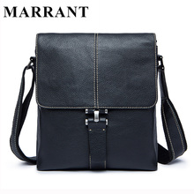 MARRANT Genuine Leather Men Bag Fashion Male Messenger Bags Men's Small Briefcase Man Casual Crossbody Shoulder Handbag 8835