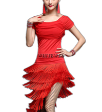 Women's Tassel 1920 30s Historical Salsa Tango Fance Inspired College Dance Event Lesson Group Halloween Costumes Dresses Adult