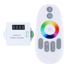 WS2811/WS2812B/WS2813/USC1903 LED digital music controller with RF touch remote;DC5-24V input;can control max 600pixels(China)