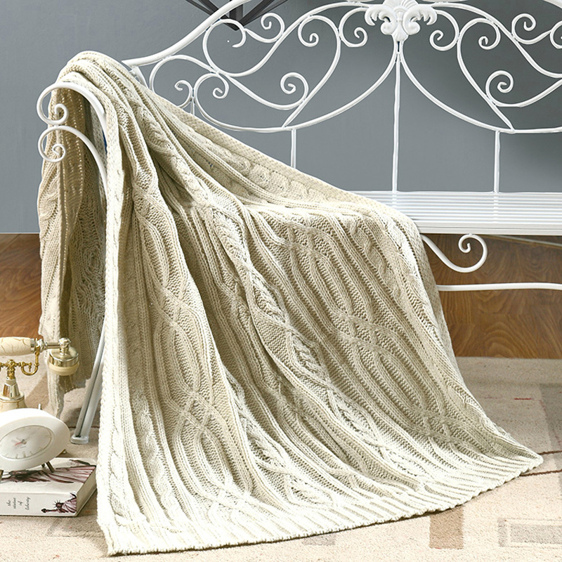A Blanket on the bed Knitting Cotton Blanket Throws on Sofa/Bed/Plane Travel Plaids Hot knitted plaid Free Shipping 110X180CM <br><br>Aliexpress