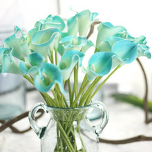 6 Pieces/lot European Style Fake Calla Lily Flowers Bridal Wedding Bouquet Real Touch Flower Artificial Flowers Home Decor #555