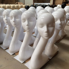 Free Shipping! Fashion White Female Mannequins Head Model Head Hair Displayer Training Head For Wig Hat Scarf Mannequin Head