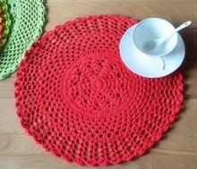 Modern cotton lace table place mat pad mug crochet placemat cup round coaster doilies mug holder kids happy kitchen tableware