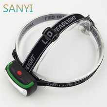 SANYI 3 Colors LED Mini COB Headlight Fishing Outdoor Camping Riding Light PVC 3 modes Headlamp use 3*AAA Drop Shipping