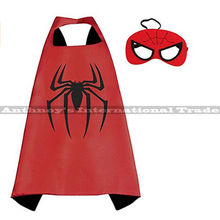 Halloween 1set spider-man cape with MASK Male children's birthday party mask faver cosplay Halloween fashion gifts cosplay(China)