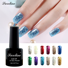 Saroline New Arrival Professional Brand 3D Diamond Glitter Shimmer Effect LUCKY Color Gel Soak Off Nail Art Design UV LED cheap(China)