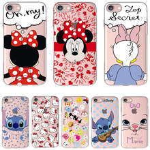 Soft Silicon Cover Case For Apple iPhone 8 7 7Plus 6 6S Plus 5S SE Cases i Phone X Shell Painted Cute Hello Kitty Marie(China)