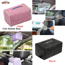 Buy Men Women Portable Type Leather Universal Car sun visor Tissue box napkin paper Holder Covers Car series Tissue Box accessories for $9.20 in AliExpress store