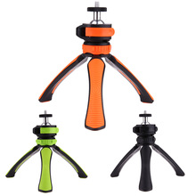 1/4'' Screw Mount Tripod Table Tops Mini Camera Stand Stabilizer Portable ABS Holder Bracket 3 Legs Tripods with Ball Head