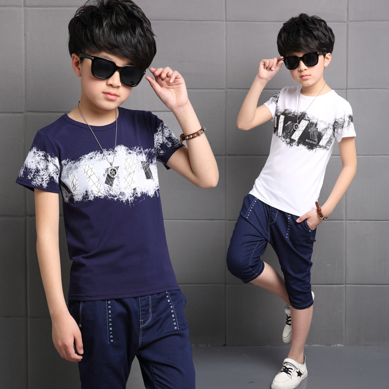 Summer in the new large cotton sports short sleeved sets of leisure sports two sets<br>