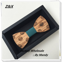 Z&X New Fashion Personality Carved Dot Bow Tie Wooden Butterfly Neck Tie For Men Jewelry Accessories butterfly