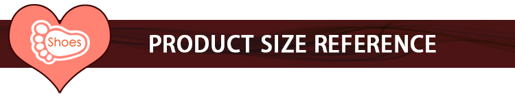 PRODUCT SIZE REFERENCE 2