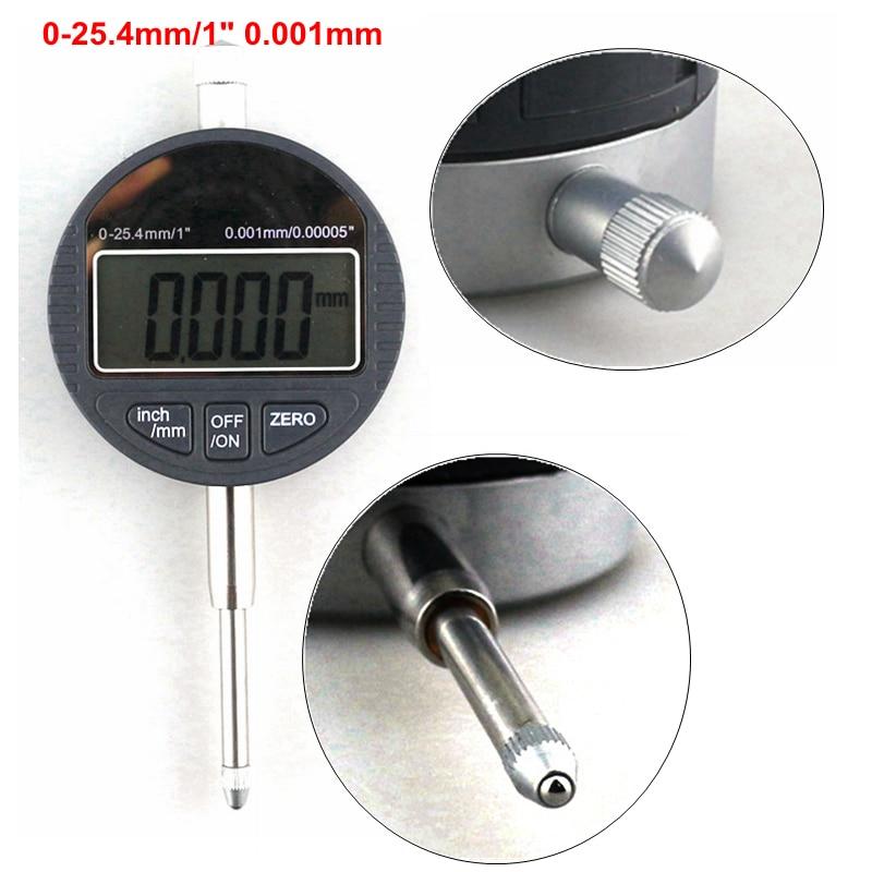 0.001mm Digital Depth Micrometer 0-25.4mm/1 Electronic Micrometro Digital Indicator Thickness Gauge<br>