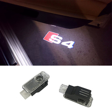 2pcs car door light ghost shadow welcome light s4 logo projector emblem For audi a4 S4