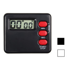 1 Pcs New Arrival Convenient Kitchen Clock Timer Cooking 99 Minute Digital LCD Screen Countdown Calculator White&Black &ST87