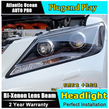 AUTO.PRO 2012-2014 For toyota camry headlights car styling LED light bar DRL for toyota camry head lamps bi xenon lens parking