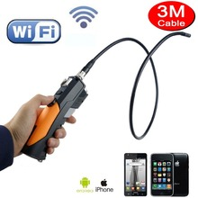 3M 8.5mm Borescope Snake Camera 720P HD Android/IOS Phone/Laptop Inpsection Endoscope Camera With 6 LEDs Wifi Wireless Endoscope(China)