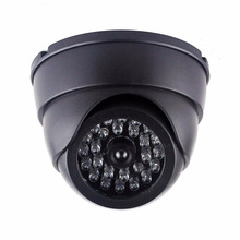 26pcs fake LED High Simulation dummy indoor outoor IR dome cctv camera white or black color one led flash(China)