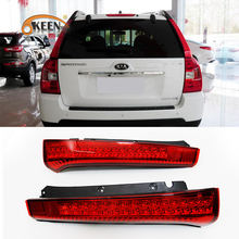 OKEEN Car LED Rear Bumper Reflect Red Len Stop Brake Light Tail Fog Parking Lamp LED Tail Car Truck  for KIA Sportage 2008-2012