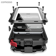 COMOSSO Armor Waterproof Case for iphone 5 5s se 6 6s 6plus 6splus 7 7plus Fundas Shell Water/Dirt/Shock/Rain Proof Capa Cover