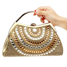 Women Clutch Bags diamonds Evening Exquisite Ladies Wedding Party Bridal Handbag Wristlet bolsos Small(China)