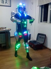LED laser emitting armor glove armor stage performance gloves stage clothes DYI LED jersey  Size/ color customized