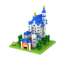 LOZ Diamond Construction Series Swan Lake Castle Diamond Puzzle Toys Building