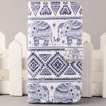 blue and white porcelain design pattern  Leather Flip Wallet Purse Pouch Case Cover For iPhone 4 4G 4S