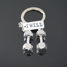 Dumbbell GYM Sports Fitness Pendant Keychain Barbell Keyring Key Holder Bag Car Accessories Fashion Jewelry Gift For Sports Love