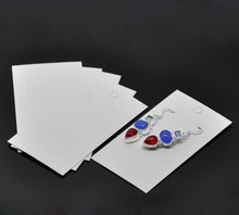 "100PCs White Earrings Jewelery Display Cards 9x5cm(3 4/8""x2"") Wholesale Fine Jewelry Accessories"
