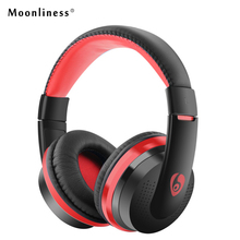 Buy Moonliness Powerful MX666 Bass Stereo Bluetooth Headphones Wireless Headset Adjustable Bluedio Headphones Mic Music for $13.34 in AliExpress store