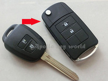 Modified Folding Flip Remote Key Shell Case For Toyota Corolla Camry Reiz New Vios RAV4 Crown 2 Buttons Key Fob Cover
