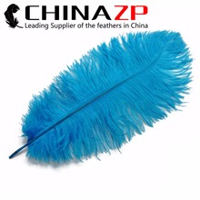 Size 45~50cm(18~20inch) CHINAZP Factory 100pcs/lot Selected Quality Dyed Turquoise Wedding Decoration Ostrich Drab Feathers