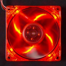 New 12cm PC Computer Clear Case Quad 4 Red LED Light 9-Blade CPU Cooling Fan 12V Wholesale