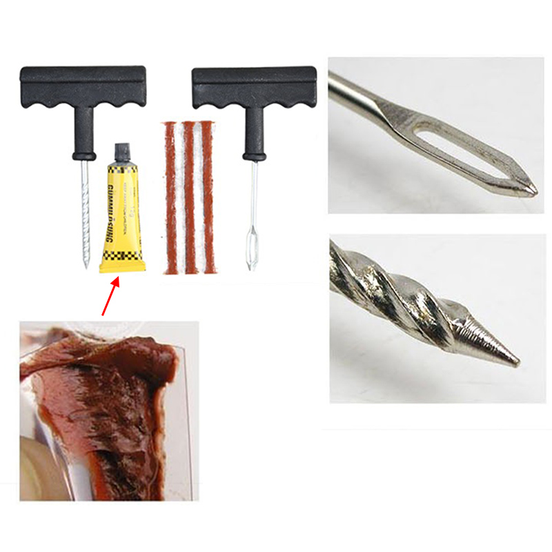 1 Set Professional Auto Car Tire Repair Kit Car Bike Auto Tubeless Tire Tyre Puncture Plug Repair Tool Kit Tool Car Accessories(China (Mainland))