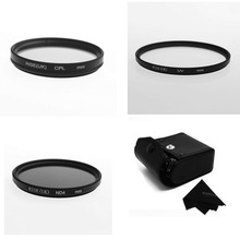RISE(UK) 72mm UV+CPL+ND4 Filter Camera Filters Kit with Case for Canon Nikon Sony DSLR Camera(China)