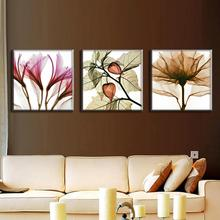 3 Pcs/Set Artist Canvas Floral Perspective Canvas Prints Modern Abstract Oil Painting Wall Pictures for Living Room
