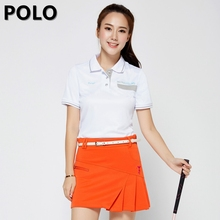 Brand Polo Anti Leakage Sports Ladies Womens Golf Badminton Tennis Skort Skirt Solid Skirts Shorts Cotton Mini Short Skirts(China)