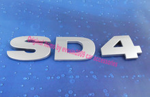 Buy Auto car silver SD4 SD 4 Freelander 2 Rear Trunk Emblem Badge Sticker for $7.30 in AliExpress store