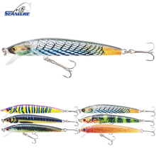 Seanlure 2017 Minnow 5 Color 9.5cm 8.5g Minnow Fishing Lure Realistic Fishing Bait Unique Texture Crankbait Fish Tackle Wobb(China)
