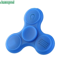 CHAMSGEND Funny Wireless Bluetooth audio Speakers Fidget Hand Spinner Triangle EDC Finger Toy Gifts june 1 P30(China)