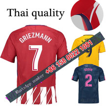 2017 2018 Atletico Madrided jersey 17 18 Home Away football camisetas Thai AAA shirt survetement football Soccer jersey(China)