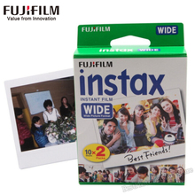 NEW Genuine Fujifilm Instax Wide Film white Edg For Fuji Instant Polaroid Photo Camera 300/200/210/100/500AF paper free shipping