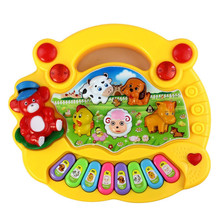 2017 Music Songs New Useful Popular Baby Kid Animal Farm Piano Music Toy Developmental Brinquedo Educativo Lowest Prcie Toy Gift(China)