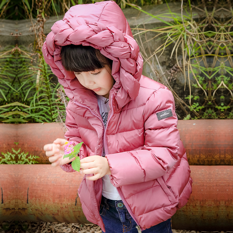 Newest Winter Children Girls 90% duck down Thick Jackets for Girls Winter Coat Kids Outerwear Baby Jacket Korean style HoodedОдежда и ак�е��уары<br><br><br>Aliexpress